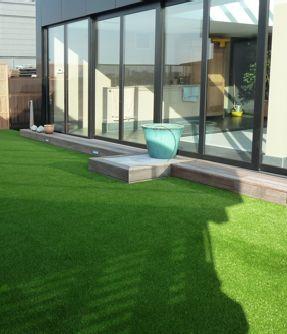 Kunstrasen Für Garten, Balkon & Terrasse Kaufen | Kunstrasen.de Kunstrasen Auf Balkon Terrasse Garten